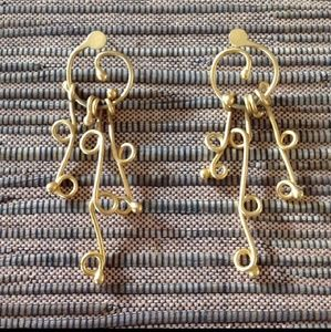 Jewelry - Satin Gold Colored Earrings
